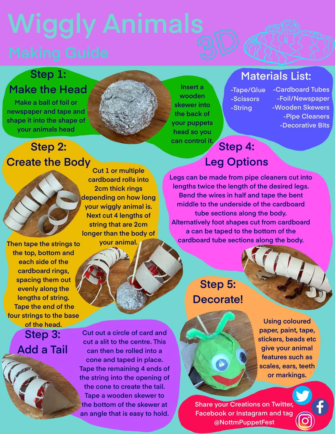 Wiggly Animals 3D Worksheet