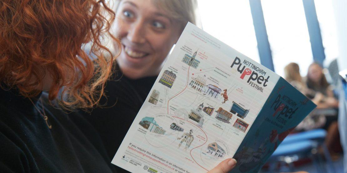 Nottingham Puppet Festival brochure with full programme for 2018