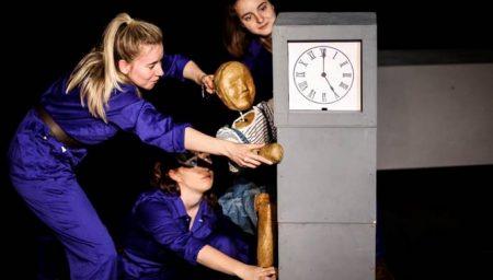 Puppet climbing Big Ben